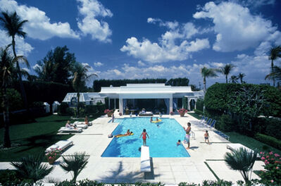 Slim Aarons, 'Pool in Palm Beach, 1985: Bathers in and around the pool at Mrs. Murray Goodman's house in Palm Beach, Florida', 1985