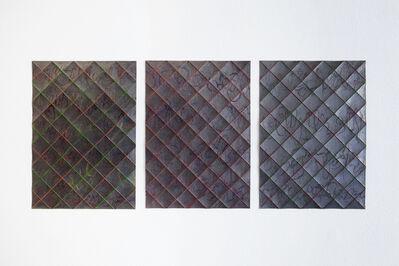 Takayuki Daikoku, 'Folded Drawing-red-green-blue (triptych)', 2018