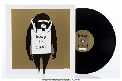 Banksy, 'Keep it Real/Laugh Now (Beige)', 2008