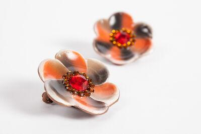 Mickalene Thomas, 'Untitled (Flower Earrings)', 2014