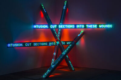 Jenny Holzer, 'All Fall Text: Truisms, 1977-79 (in English and Spanish); Living, 1980-82 and Survival, 1983-85', 2012