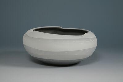 Tsuruta Yoshitaka, 'Large Bowl Monochrome Work 21', 2012