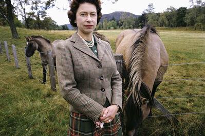 David Montgomery, 'Queen Elizabeth with Horses', 1967