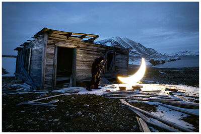 Leonid Tishkov, 'Private moon in the Arctic - Hunter and the Moon', 2012