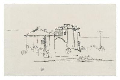Egon Schiele, 'Two Houses (Suburb of Vienna)', 1914