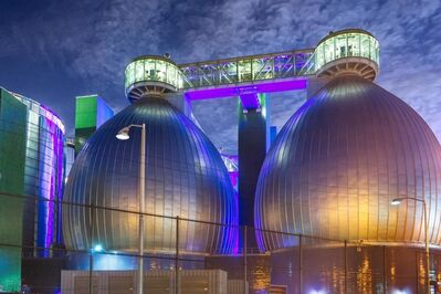 Lee Backer, 'Colored Lights, Newton Creek Wastewater Treatment Plant, Brooklyn'