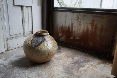 Shiro Tsujimura, 'Large round jar natural ash glaze'