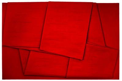 Cesare Berlingeri, 'Sul rosso piegato', 2011
