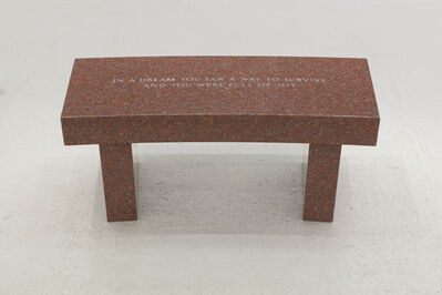 Jenny Holzer, 'Survival: In a dream you saw...', 1989