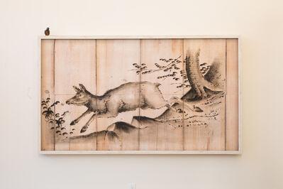 Joseph Rossano, 'Doe Deer Engraving Painting', 2018