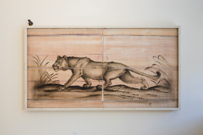 Joseph Rossano, 'Cougar Engraving Painting', 2018
