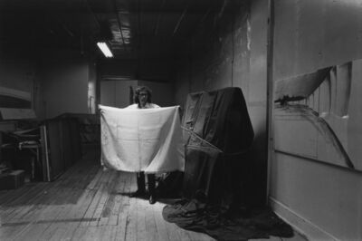 Eric Kroll, 'Christo, artist with his California wrapping material NYC'