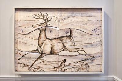 Joseph Rossano, 'Deer Engraving Painting', 2017