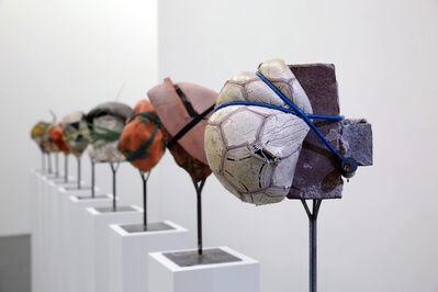 Nida Sinnokrot, 'Rubber-Coated Rocks, All-Stars 02', 2015