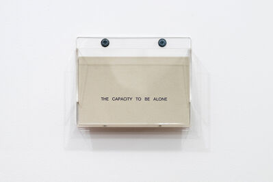 Louise Lawler, 'The Capacity to Be Alone.', 1990