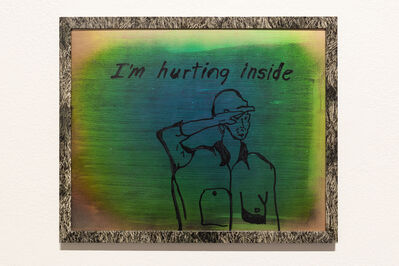 Thomas Macker, 'I'm Hurting Inside, The Last Line of the Lullaby I Sing Every Night to My Son, Song by Bob Marley, Bedtime Routine', 2016