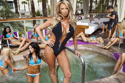 Lauren Greenfield, 'VIP hostess Tiffany Masters, 38, with her Cabana Candy team at the Hard Rock Hotel and Casino', 2010