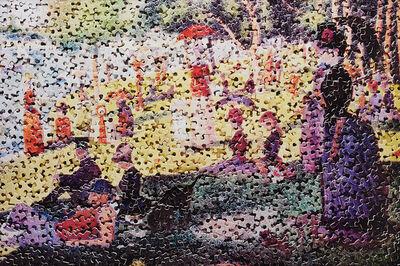 Vik Muniz, 'A Sunday on La Grande Jatte, after Georges Seurat from Gordian Puzzles', 2009