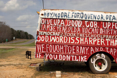 Jerry Siegel, 'Painted Bus & Dog, Dallas County, AL', 2006