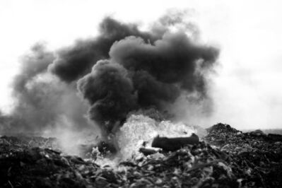 Mário Macilau, 'Tyres on Fire, The Profit Corner', 2015