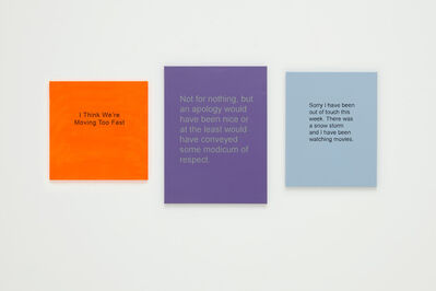 Allison L. Wade, 'Break-Up Text Painting: Not For Nothing', 2014
