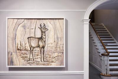 Joseph Rossano, 'Pronghorn Antelope Engraving Painting', 2017