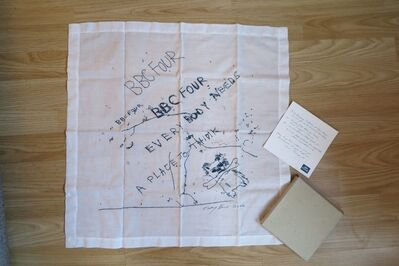 Tracey Emin, 'Everybody Needs a Place to Think (Limited Edition Vintage Promotional Handkerchief, VIP Invitation and Box) for British Broadcasting Company (BBC 4) ', 2002