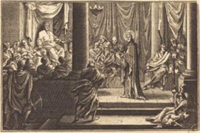 after Sébastien Le Clerc I, 'Christ before Caiaphas'