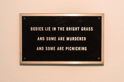 Jenny Holzer, 'Survival: Bodies lie in the bright grass…', 1984