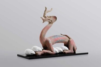 Xu Zhen 徐震, 'Eternity- Six Dynasties Period Painted Earthenware Dragon, Sleeping Muse', 2017
