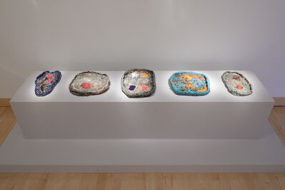 Sterling Ruby, 'Installation shot (l to r): Ashtray Series, 340, 255, 134, 141, 253', 2010-2014