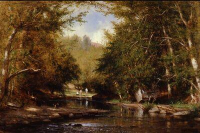 Worthington Whittredge, 'The Brook—Catskills (The Bathers)', ca. 1885
