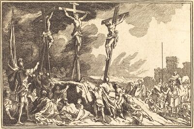 after Sébastien Le Clerc I, 'Christ on the Cross between the Two Thieves'