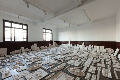 Michael Rakowitz, 'The Flesh Is Yours, The Bones Are Ours, 14th Istanbul Biennial SALTWATER, installation view, Galata Greek Primary School. Photo by Sahir Ugur Eren.', 2015