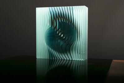 Peter Borkovics, 'Teal Cube'