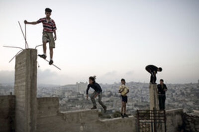 Christopher Anderson, 'Boys playing on a hill overlooking Bethlehem (Palestine)', 2007