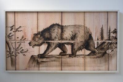 Joseph Rossano, 'Black Bear Engraving Painting', 2018