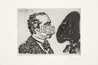 William Kentridge, 'Nose 11', 2008