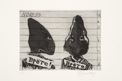 William Kentridge, 'Nose 13', 2008