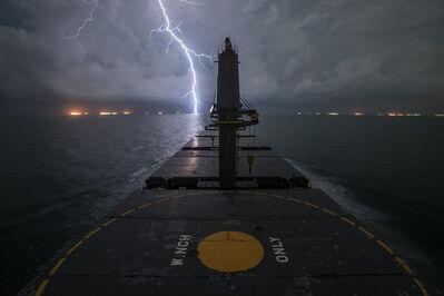 "Lou Vest, '""Lightning, Gulf of Mexico""', ca. 2014"