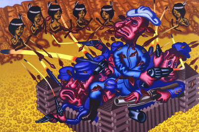 "Peter Saul, '""Fort Defiance""', 2008"