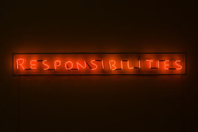 David Shrigley, 'Responsibilities (orange)', 2018