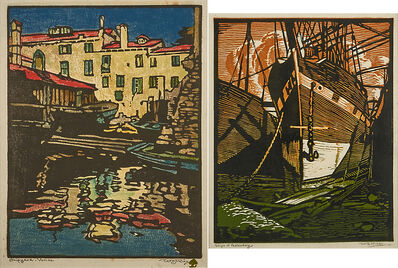 """William S. Rice, 'Shipyard-Venice and """"Ships of Yesterday,"""" California', 1920s/1926"""