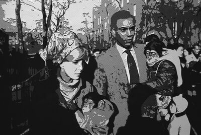 Vik Muniz, 'Pictures of Paper: Couple Central Park Zoo, after Garry Winogrand', 2008