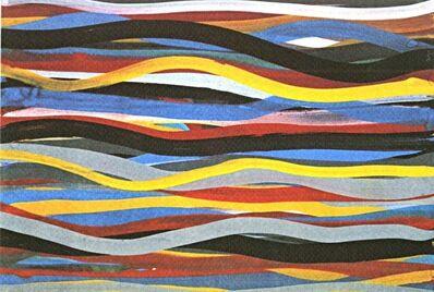 Sol LeWitt, 'Brushstrokes: Horizontal and Vertical, One Horizontal Plate', 1996