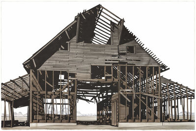 George Dombek, 'Gamble Barn with Sheds', 2018
