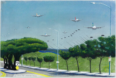 Cole Case, 'LAX Incoming Westchester Parkway', 2017