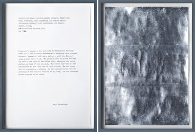Peter Liversidge, 'Proposal for the Whitechapel Editions (Framed)', 2013