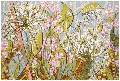 Angie Lewin, 'Ramsoms and Campion', 2014