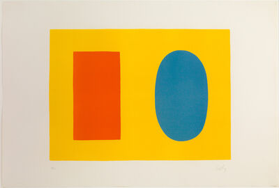 Ellsworth Kelly, 'Orange And Blue Over Yellow', 1964-1965